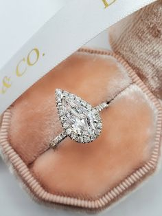 Pear Diamond Engagement Ring, Engagement Ring Buying Guide, Pear Shaped Engagement Rings, Engagement Ring Shapes, Dream Engagement Rings, Teardrop Engagement Rings, Most Beautiful Engagement Rings, Pear Shaped Diamond Ring, Pear Wedding Ring