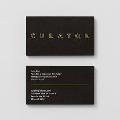 Picture of business card designed by Shore for the project Curator Pictures. Published on the Visual Journal in date 4 November 2015