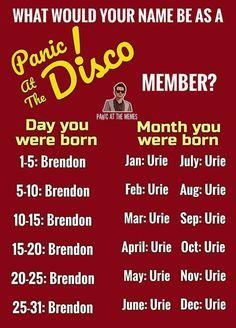 yooooooo i'm brendon urie that's amazing