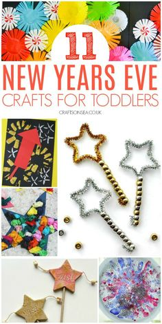 New Years Eve crafts for toddlers preschool easy These New Years Eve crafts for toddlers are easy to make but look fantastic! Simple activities that they'll love and so will you. Winter Crafts For Kids, Craft Projects For Kids, Diy Crafts For Kids, Fun Crafts, Arts And Crafts, Crafts Toddlers, Easy Toddler Crafts 2 Year Olds, Tape Crafts, Kids Diy