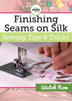 Silk and other silk like fabrics can be used to create luxurious garments or other projects. However, they can tend to ravel badly at the seams and need to be finished. Nicole LaFoille walks you through several ways you can finish seams when sewing silk.