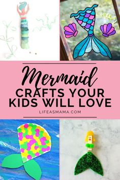 Getting creative with your kids can make for a fun afternoon. Since mermaids are still popular, why not turn them in to a craft? Break out the craft drawer and get creative with mermaids! #lifeasmama #mermaidcraft #craftsforkids #kidcrafts #crafts Summer Activities For Kids, Fun Crafts For Kids, Projects For Kids, Diy For Kids, Fun Activities, Polka Dot Labels, Mermaid Crafts, Mermaid Dolls, Love Stickers