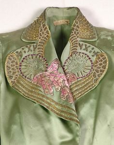 Jacket, Evening.  House of Schiaparelli  (French, 1928–1954).  Designer: Elsa Schiaparelli (Italian, 1890–1973). Date: summer 1939. Culture: French. Medium: Silk, metallic, beads.