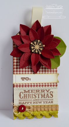 Seasonal Sentiments, Poinsettia Die-namics - Joanne Basile
