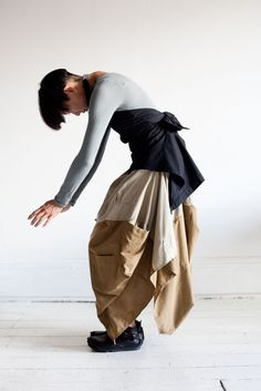 Skirt Made from two men's shirts