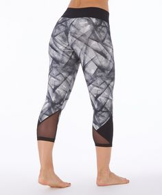 Bally Total Fitness Black Crossed out Panel Capri Leggings by Bally Total Fitness #zulily #zulilyfinds