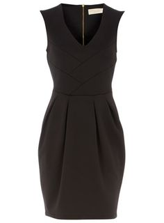 Black neoprene lampshade dress