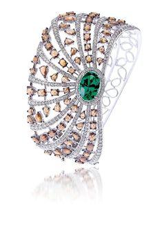 Bapalal Keshavlal, emerald and sapphire ring.