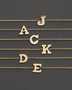 Zoë Chicco 14K Yellow Gold Initial Bracelet | Bloomingdale's