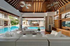 Villa Oberoi  luxury holiday villa in Bali, Indonesia, near Canggu #luxurytravel #bali #beachfront #luxury #villarentals