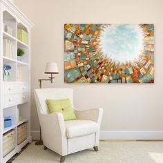 Acryl Gemälde 'Light from Above' 150x100cm
