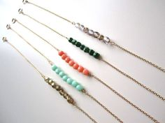 colorful beaded layering bracelets by Fresh Tangerine | Appearing at Renegade Craft Fair Holiday Market (Chicago) Dec. 1&2