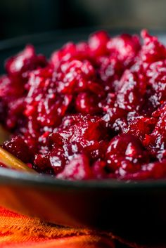 NYT Cooking: A kicky condiment, usually made with cranberries, can offset the neutral (read: bland) yet rich nature of the Thanksgiving meal. This hot red-pepper cranberry relish with jalapeños and cayenne fits the bill. You can keep the seasoning somewhat tame, or ramp up the heat to taste. It will keep for 2 weeks or so