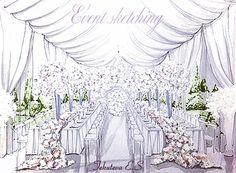 Wedding Bells, Wedding Cards, Wedding Events, Javanese Wedding, Wedding Drawing, Wedding Illustration, Fairytale Weddings, Interior Exterior, Event Decor