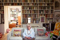 The talented fabric designer, Pat Albeck. Emma Bridgewater's mother in law and Matthew Rice's mum. A very 70s icon.