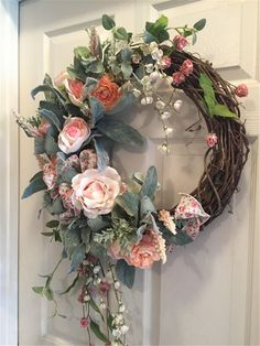 How to DIY a Flower Wreath Decorations in Spring 2019 : Christmas Wreath Decorations; Home Decor; Paper Flower Wreaths, Pink Wreath, Tulle Wreath, Floral Wreaths, Door Wreaths, Grapevine Wreath, Yarn Wreaths, Burlap Wreaths, Ribbon Wreaths