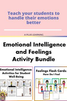 This bundle includes two of our best-selling resources. These two resources could help your students learn how to manage their emotions and express their feelings better. School Resources, Classroom Resources, Teaching Resources, Classroom Organization, Classroom Management, School Stuff, Back To School, Feelings Activities, Emotional Intelligence