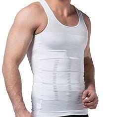 aeb0bf2752dd4 Hanerdun Mens Slimming Body Shaper Vests Undershirt Abs Abdomen Slim    Be  sure to check