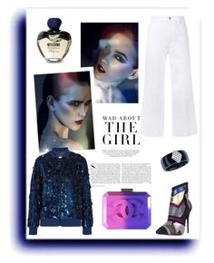 """MAD ABOUT THE GIRL!!!"" by kskafida ❤ liked on Polyvore featuring Bellini, Chanel, Kershaw, STELLA McCARTNEY, Ashish, Moschino, Modern Bride and Giuseppe Zanotti"