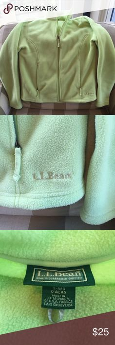 L. L. Bean Full Zip Lime Green Fleece Jacket NWOT L. L. Bean Full Zip Lime Green Fleece Jacket NWOT, ladies size small. L.L. Bean Jackets & Coats