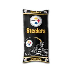 Pittsburgh Steelers YOUTH Body Pillow by Northwest. $19.95. Size: 18x36. Perfect additional to the younger NFL fans is this youth body pillow from Northwest Blankets. This body pillow shows off your favorite teams logo and is perfect for the bedroom or dorm room. The shell is screen printed 50%cotton/50% polyester; the fill is 100% Polyester. Measures approximately 18 x 36 inches.