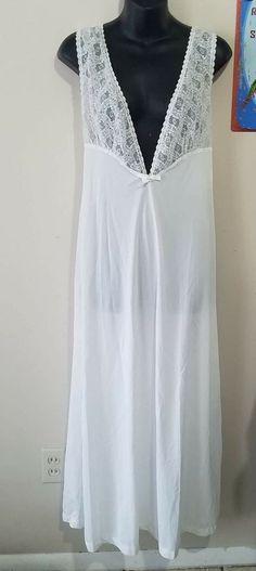 Vintage Aristocraft Nightgown Sheer White Lace Trim Medium Lingerie Nighty Sleep | Clothing, Shoes & Accessories, Vintage, Women's Vintage Clothing | eBay!