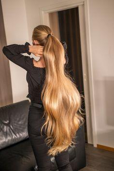Long Hair Ponytail, Ponytail Hairstyles, Pretty Hairstyles, Cut My Hair, Big Hair, Beautiful Long Hair, Gorgeous Hair, Healthy Blonde Hair, Long Silky Hair
