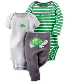 WHEN I HAVE KIDS, they will wear this. Carter's Baby Boys' 3-Piece Turtle Set - Kids & Baby - Macy's