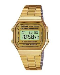 Casio Dress Digital Mens Watch, I just got the black version but I sure do love this gold one!