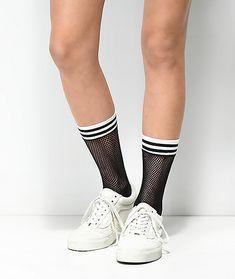 Black Ankle Fishnet Athletic Socks Hosiery Stockings O//S Leg Avenue 3045