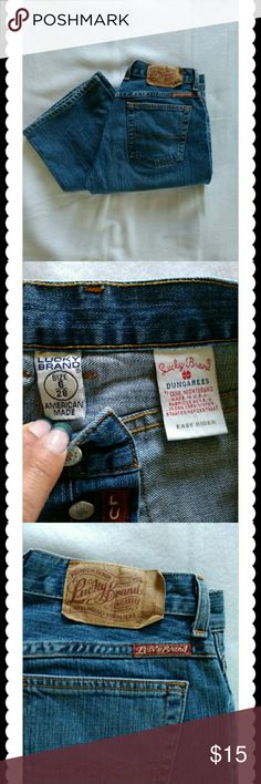 LUCKY BRAND  EASY RIDER JEANS These lucky brand dungarees  easy rider jeans are nice book cut faded jeans are in good shape..  Only a little stitch missing on pocket..  But intact not freying. Lucky Brand Jeans Boot Cut
