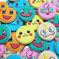 Some Pokémon cookies for my nephews' birthday party! Pokemon Cupcakes, Pokemon Birthday Cake, Pikachu Cake, Birthday Cookies, 6th Birthday Parties, 8th Birthday, Birthday Party Decorations, Birthday Ideas, Pjmask Party