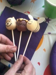 Winnie the Pooh cake pops for you mom lol we could make them on national Pooh Day