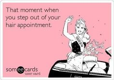 Everyone feels amazing after getting their #Hair done.