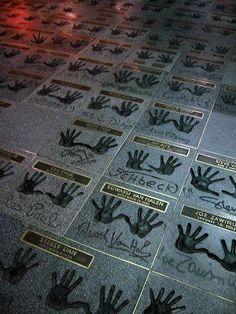 Walk of fame handprints