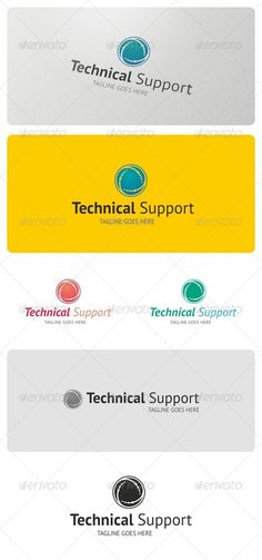Technical Support Logo Template  #GraphicRiver         Technical Support Logo is highly suitable for tech and support related businesses.  Features:  3 Vector File Types included: AI, EPS, and CDR   3 Color variations   1 Grayscale Version  1 Black & White Version     Fonts used:   PT-Sans     If you have any problems with your purchase feel free to contact me using my Profile Page      Please, don't forget to rate this logo!      Created: 19March13 GraphicsFilesIncluded: VectorEPS…