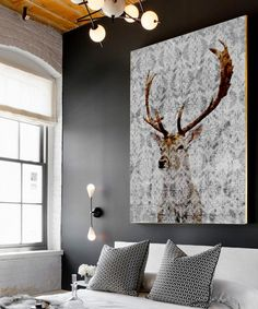 Professionally printed on cotton canvas and stretched by hand on a wooden frame, this majestic wildlife depiction piece infuses the home with captivating artistic expression.
