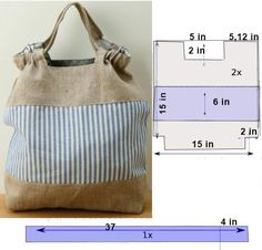 Bag template with measures - Sewing Pattern | Sewing Patterns Free