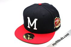 Milwaukee Brewers Melton Gray Dark Khaki 1982 AL Patch New Era 59Fifty Fitted