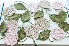 Hochzeit Girlande Christmas garland Gehäkelte Blume von SvetlanaN