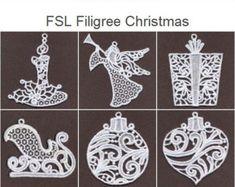 Machine Embroidery Design Diseños de 4 x 4 aro 10 FSL deslumbrante Navidad adorno Embroidery Software, Learn Embroidery, Machine Embroidery Patterns, Lace Patterns, Embroidery Techniques, Embroidery Applique, Paper Embroidery, Applique Patterns, Mini Christmas Ornaments