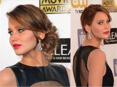 30 Ways to Wear a Messy Updo: Messy Prom Updos: Jennifer Lawrence