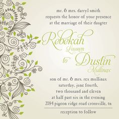 Custom Wedding Invitations & RSVP (Digital File, Print Anywhere) only $20 http://www.setapartdesigns.net