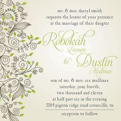 Custom Wedding Invitations & RSVP (Digital File, Print Anywhere) only $20 http://www.setapartdesigns.net