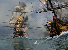 Image detail for -pirate ship war fire picture and wallpaper