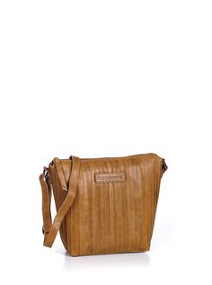 bruno banani Stripes shoulderbag - color: cognac