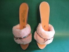 These slippers are so sexy and fun.  With a furry mini pink nightie they could have quite the kinderwhore feel about them.