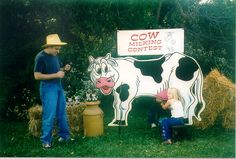 Cow Milking Contest, Double - http://www.twisterdisplay.com/Cow-Milking-Contest-Double/