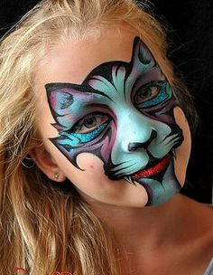 Simple face painting designs are not hard. Many people think that in order to have a great face painting creation, they have to use complex designs, rather then Kitty Face Paint, Face Paint Makeup, Cat Face, Girl Face Painting, Face Painting Designs, Paint Designs, Animal Face Paintings, Kids Makeup, Makeup Ideas