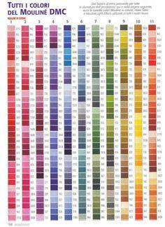 Tableau De Tous Les Coloris Du Mouline Dmc Cross Sch Thread Magazines